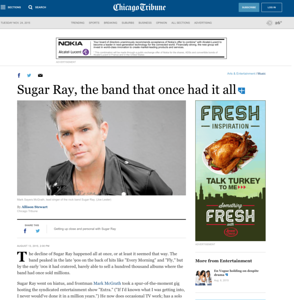 Mark McGrath in the Chicago Tribune