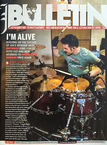 Anthrax album recording photos in Revolver Magazine