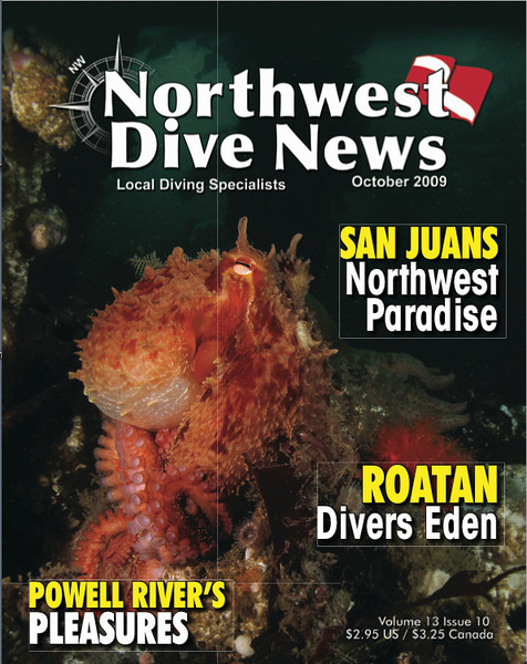 Northwest Dive News cover October 2009.