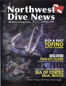 NW Dive News cover, January 2009 issue.