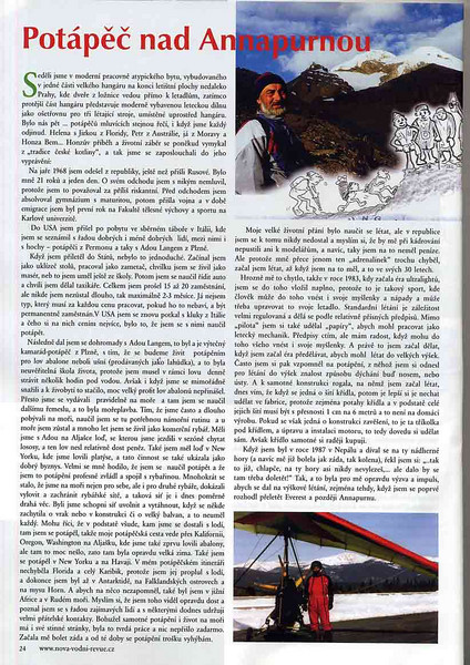 "Czech Dive magazine ""Dobra Voda"", Fall 2008 issue.<br /> Article and photos about my friend Jan Bem. I provided the cartoon."