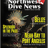 BICOLORED NUDIBRANCH( Janolus fuscus ). <br /> Northwest Dive News cover. July 2011