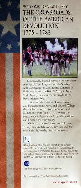 "Monmouth Battlefield photo published on page 2 of the 2003 history brochure, ""The Road to Monmouth Heritage Campaign"". <br>Published by the 225th Anniversary of the American Revolution Celebration Commission, in collaboration with The New Jersey Historical Society."