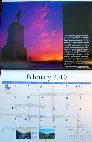 2010 Civil War Preservation Trust calendar<br /> photo by Joe Ryan