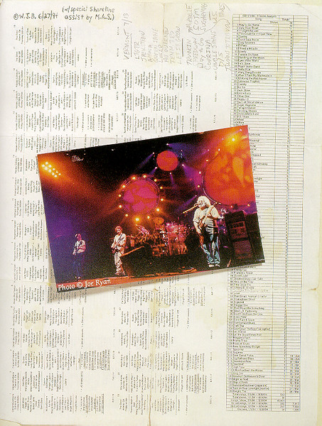 """Grateful Dead photo published in the book """"Deadhead Forever"""" by Scott Meyer."""