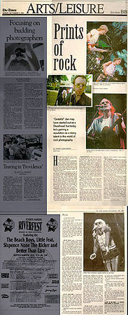 "Article in The Times (Trenton, NJ) ""Arts & Leisure"" section, <br /> September 1999."