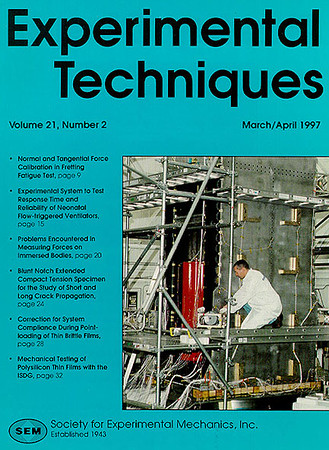 Cover photo of the Whitetail Spacecraft on EXPERIMENTAL TECHIQUES magazine.  <br /> March/ April 1997.<br /> <br /> Lockheed Martin Space Center, East Windsor, NJ