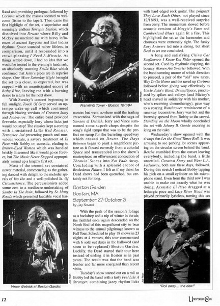 3 Grateful Dead photos published in the Winter 1994 issue of Unbroken Chain.