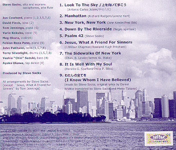 "Background photo of the New York sky line of Steve Sack's CD, ""Look To The Sky"" by  IAM Records (2002). Visit <a href=""http://www.stevesacks.com"" target=new>stevesacks.com</a>"