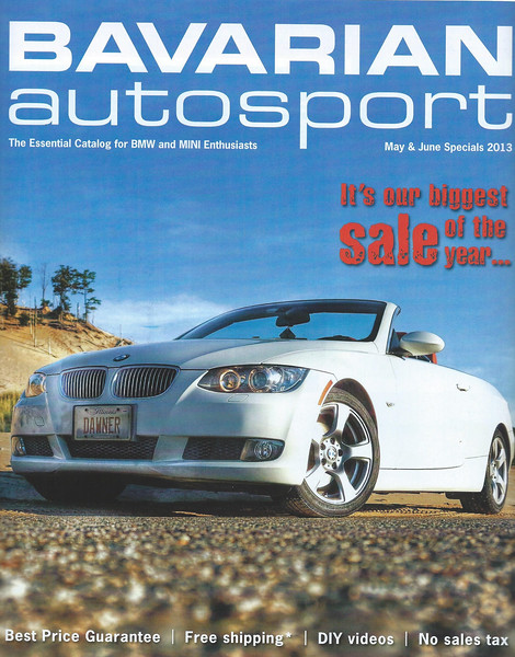Photo of my BMW on the Cover of Bavarian Autosport magazine May 2013