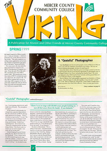 Article in The Viking, Mercer County Community College's newsletter (Trenton, NJ).<br /> Spring 1999