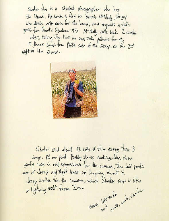 "Inside page from the book, ""Deadhead Forever"", by Scott Meyer."
