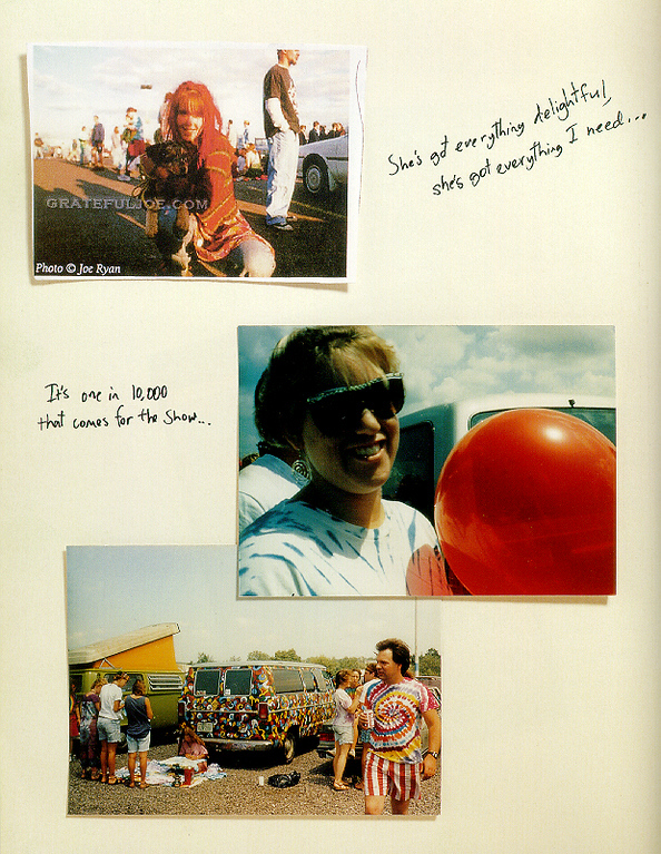 "Top photo published in the book ""Deadhead Forever"" by Scott Meyer."