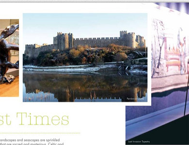 "Photos featured in ""Pembrokeshire"" tourism brochure, 2012"