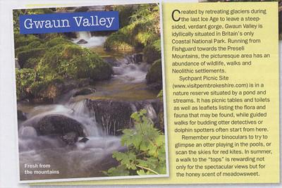 Gwaun Valley photo in My Weekly magazine.