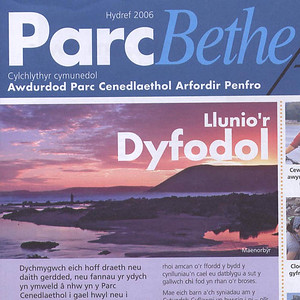 Manorbier photo featured on the cover of Park Life.(Welsh Version)