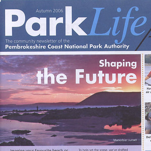 Manorbier photo featured on the cover of Park Life.