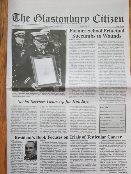 The Glastonbury Citizen newspaper 10/29/15 edition