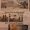Fire News newspaper February/March 2013 issue. Middle 2 pictures