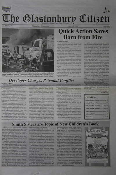 "Cover photo Glastonbury Citizen newspaper 7/6/10<br />  <a href=""http://squadfirephotos.smugmug.com/2010/Fires/Glastonbury-Ct-camper-fire/12854028_EwzXT#927689399_xZ6un"">http://squadfirephotos.smugmug.com/2010/Fires/Glastonbury-Ct-camper-fire/12854028_EwzXT#927689399_xZ6un</a>"