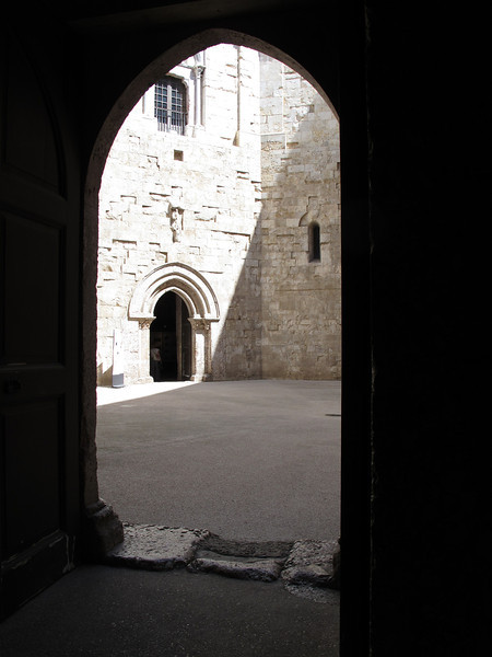 The inside of Castello Del Monte.