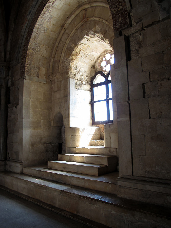 An upper floor window of the Castello.