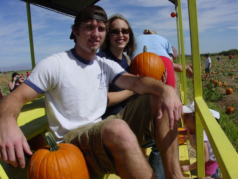 Tyler and me with our pumpkins