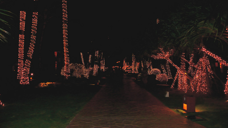 Christmas lights at the Iberostar Bavaro