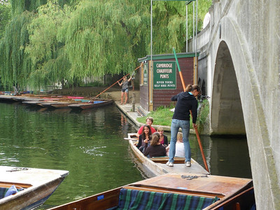 Punting on the Cam is jolly fun! Cambridge, England.