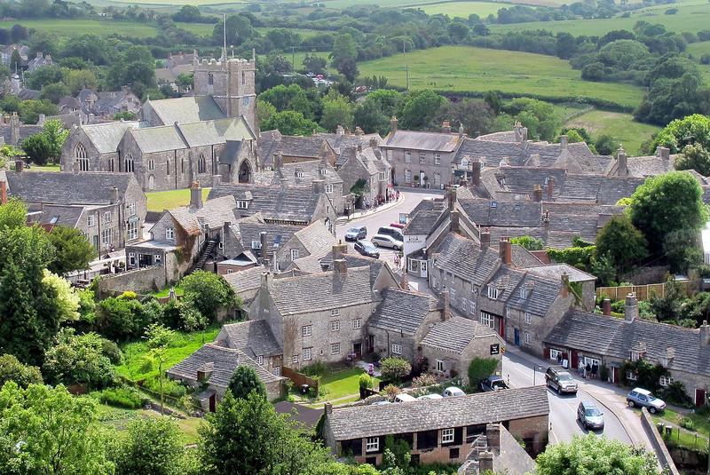 Corfe Castle village.
