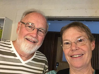 David Hinkle '62 (son of Norwood) and Sandy  '61.  After Putney, we met again (surprisingly) at Wesleyan University, where our daughters happened to by paired as roommates!  Not only that, I discovered that he had married one of  my college classmates. Small world.