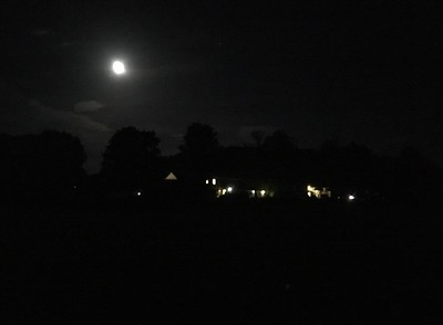 Full moon over the Main Building