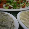 Arabic Salad, Baba Ghanoush, and Hummus