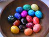 what the dye colors look like on white eggs