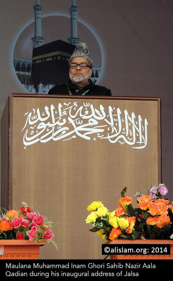 009 maulana muhammad inam ghori sahib nazir aala qadian during his inaugural address of jalsa