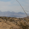 Looking East to Organ Mountains from the South rim of Billy The Kid Canyon.