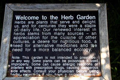 7/7/09 Herb Garden, Quail Botanical Gardens, Encinitas, San Diego County, CA