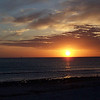 A stunning and gorgeous sunset along a popular beach in Florida