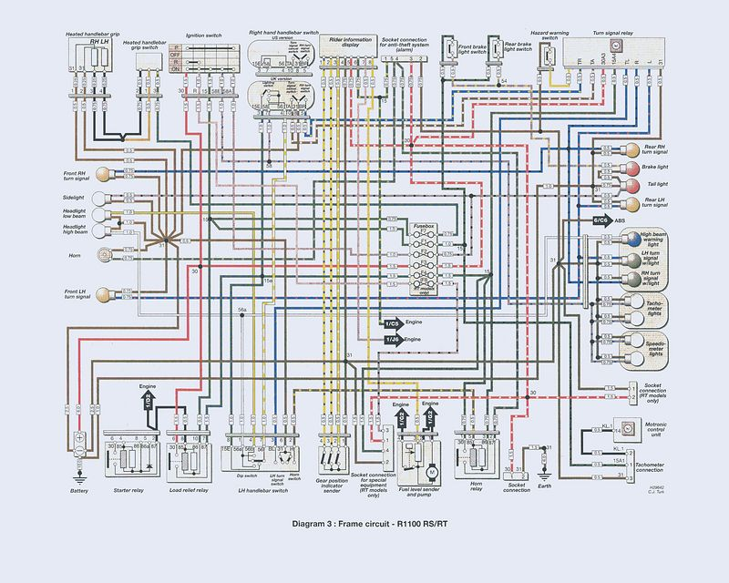 Frame Wiring Diagram L r1100rs gs wiring diagrams pep27 r1100rt wiring diagram at mifinder.co