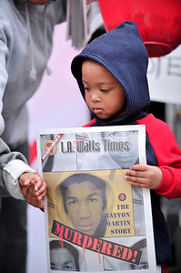 LOS ANGELES CA:  Los Angeles  Civil Rights Leaders Held Press Conference and Rally for Justice for Trayvon Martin in front of the Los Angeles Sentinel Newspaper on Crenshaw Blvd in Los Angeles California on March 27, 2012.  (Photo by Valerie Goodloe)