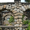 STONE GAZEBO - MIGHT BE CUTE FOR BRIDE AND GROOM TO PEEK OUT OF...