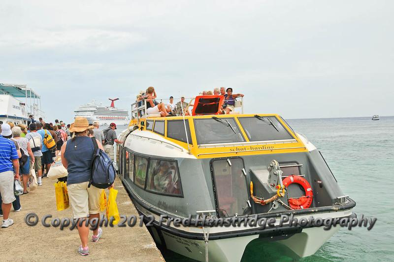 Boarding the Tender