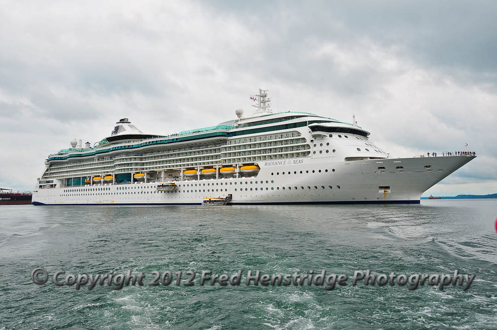 The Radiance of the Seas on Gatun Lake