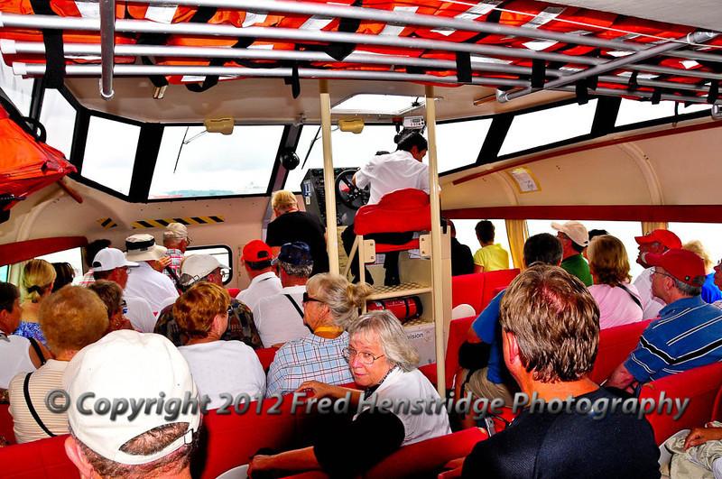 Onboard the tender
