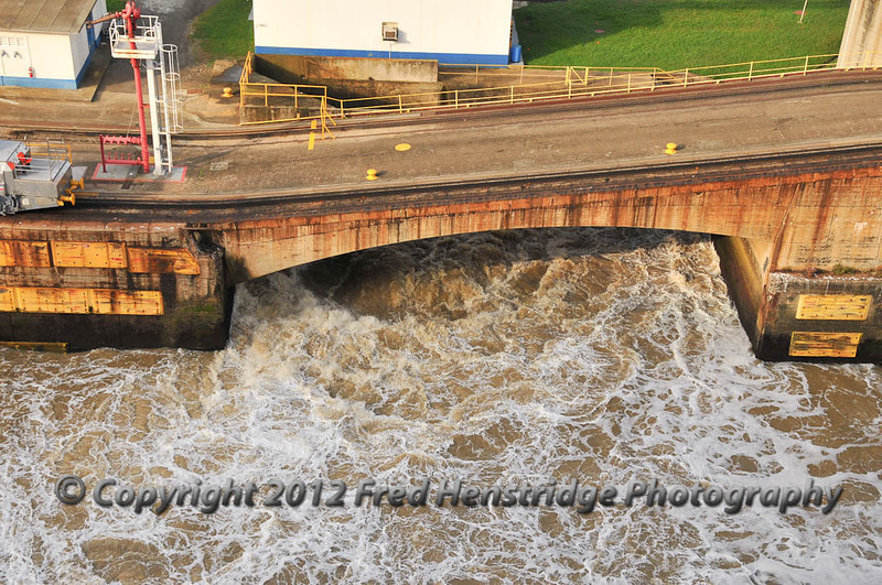 Water flooding the lock