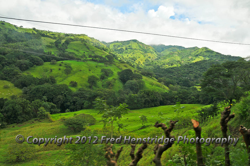 Costa Rica scene on the way to the coffee plantations
