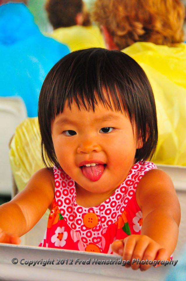 A cute little Chinese girl on the tour