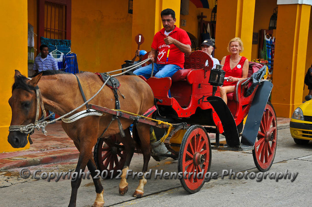 The carriage ride in old town, Cartagena