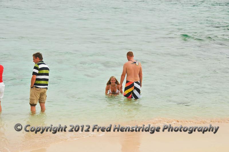 Taking a dip at Spot Bay