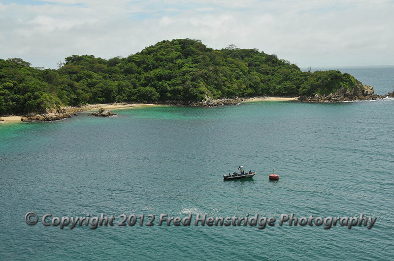 The entrance to Huatulco harbor